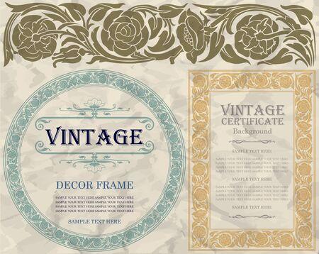 nouveau: vintage frame design: art nouveau Illustration