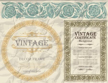 vintage design: vintage frame design