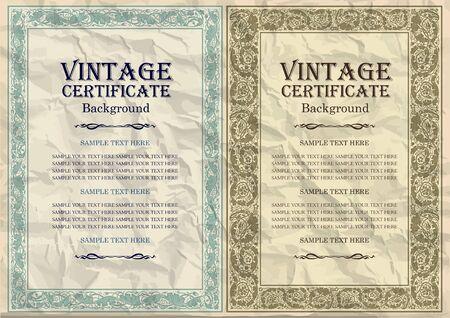 art frame: vintage frame design: art nouveau Illustration