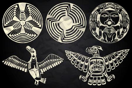 México y Perú arte nativo en blanco y negro