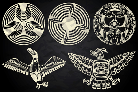 tlingit: Mexico and Peru native art in black and white