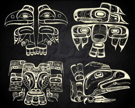 canada aboriginal: Mexico and Peru native art in black and white