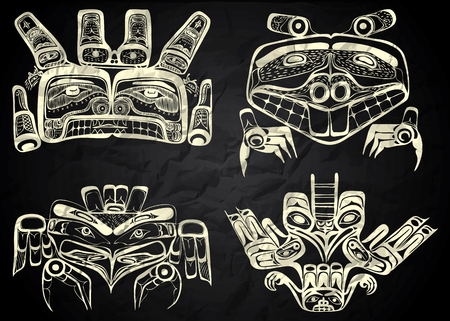 the inuit: Mexico and Peru native art in black and white