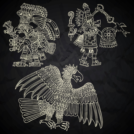 snake calendar: Mexico and Peru native art in black and white