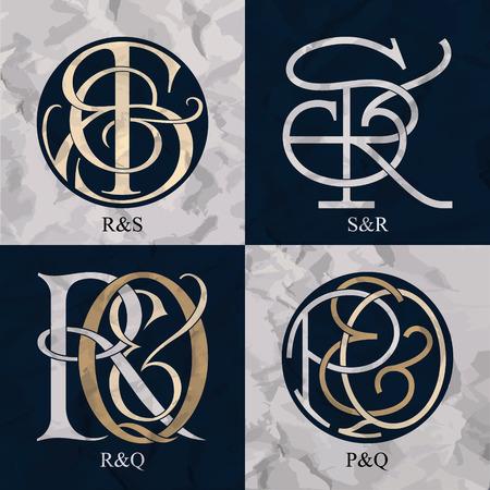 Vintage Monogramma - 4 set - monogrammi serie