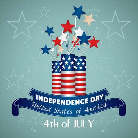 red drum: 4 july Independence Day festive background Illustration