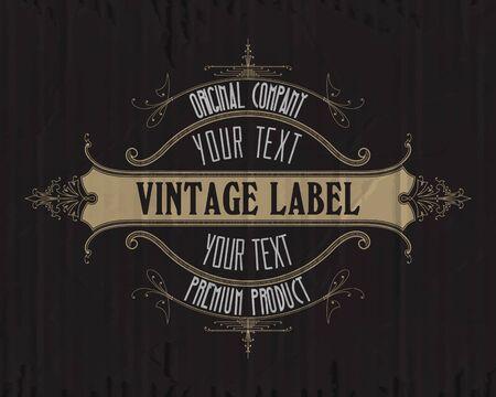 Vintage premium label typographic - vecteur Vecteurs