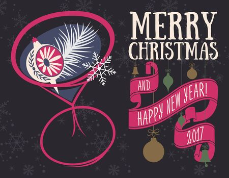 greeting: Christmas greeting card