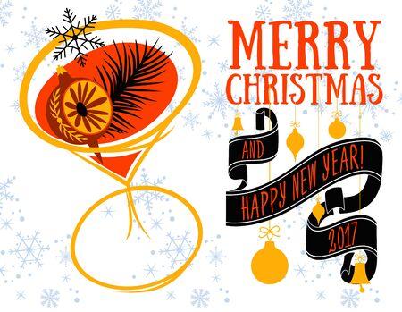 christmas greeting: Vector Christmas greeting card Illustration