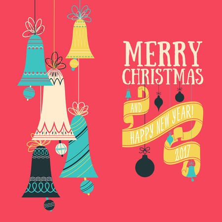graphic pattern: Vector Christmas greeting card Illustration