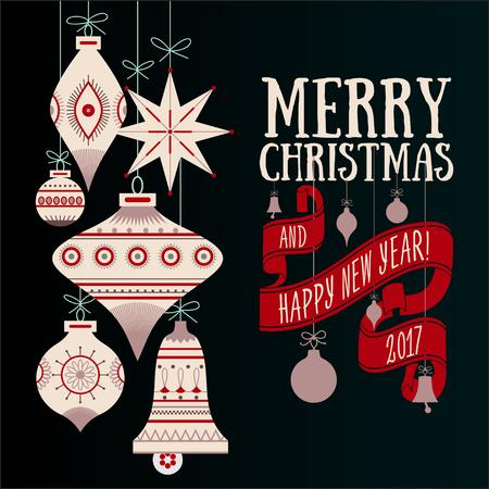 christmas greeting card: Vector Christmas greeting card Illustration