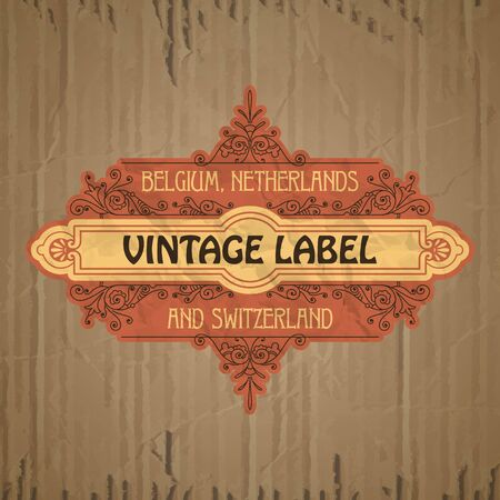 floral vintage: vector vintage items: label art nouveau