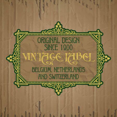 nostalgia: vector vintage items: label art nouveau