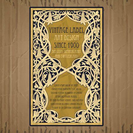 portadas libros: añada elementos de vectores: art nouveau de etiqueta Vectores