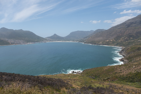 Hout Bay haven buiten de kust van Zuid-Afrika.
