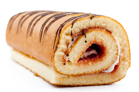 roll cake with cream