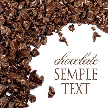 chocolate swirl: Crumbs of chocolate Stock Photo