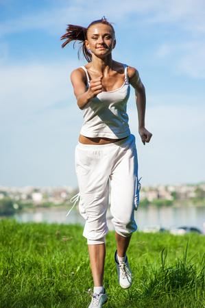 sport girl in the park