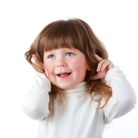 little curly girl Stock Photo