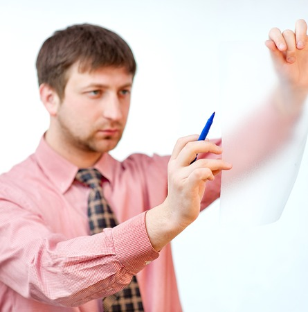manager on white Stock Photo