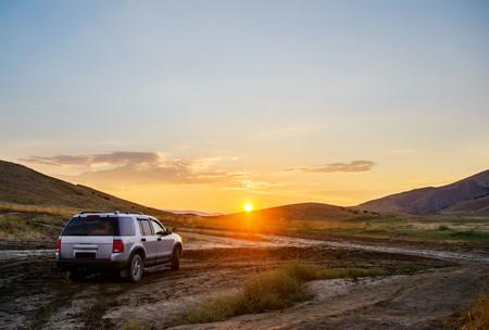 Crimea, beautiful sunset