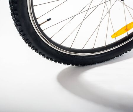 front of: bicycle front wheel
