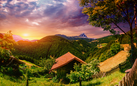 alp: house in the mountain