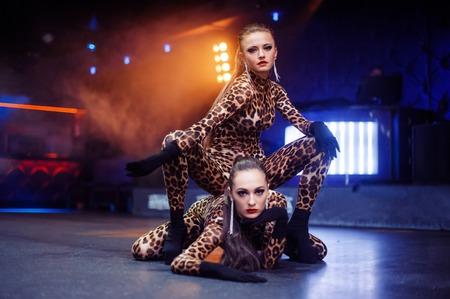 Sexy girls dancing in the club