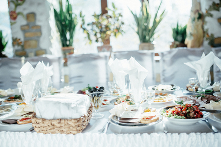 Catering at a luxury event Stock Photo