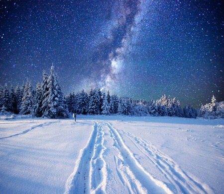 fantastic milky way in the Stock Photo