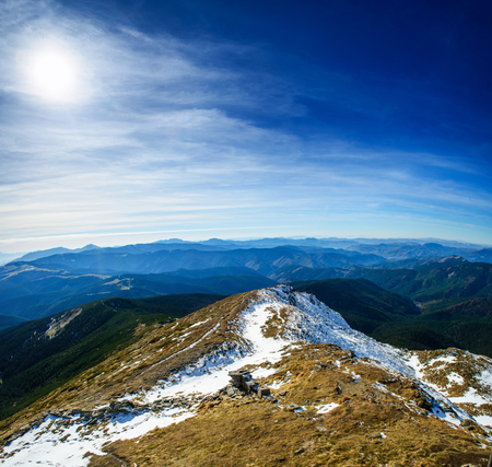 Fantastic landscape almost snow-capped Stock Photo