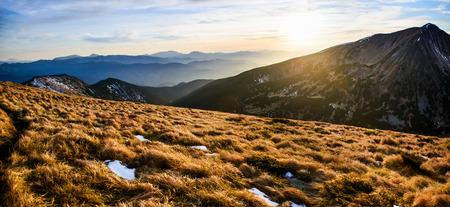 Fantastic landscape almost snow-capped Stock Photo