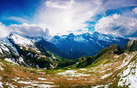 Fantastic landscape almost snow-capped mountains