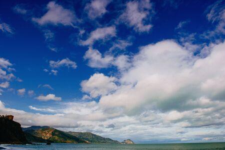 salina: Beautiful Cape Milazzo. Italy.
