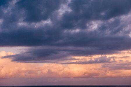 ocea: beautiful landscape with sunset over sea