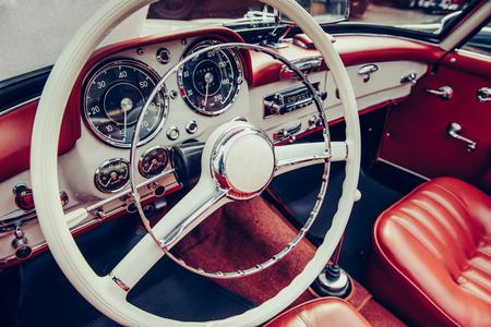 럭셔리 자동차 인테리어 스톡 콘텐츠