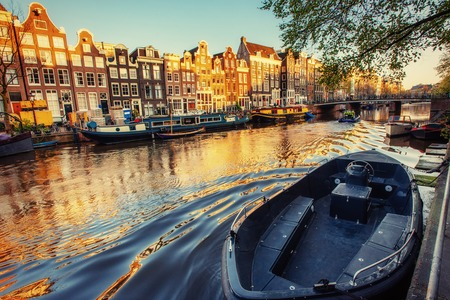Beauty Amsterdam. Channel one of the streets where the two sides