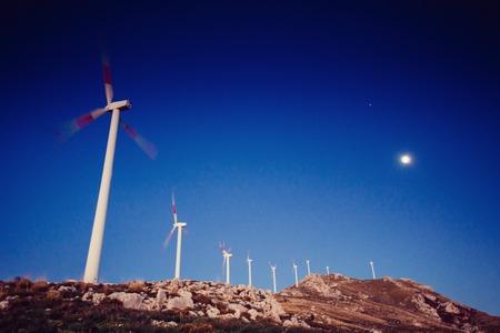 Wind Turbines. Beauty world. Sicily Italy Europe. Stock Photo