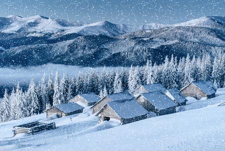 chalet in the mountains. Carpathian, Ukraine, Europe. Stock Photo
