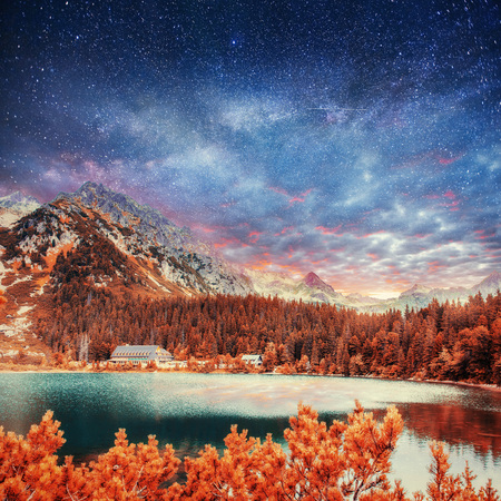 Fantastic lake in the Low Tatras National Park.