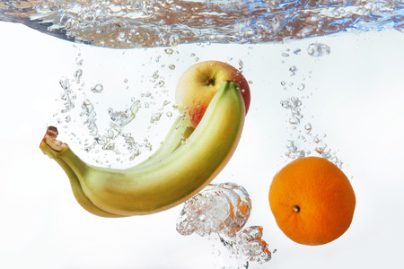 bananas and oranges an apple fell into the water