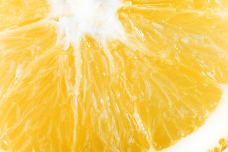 Slice orange isolated on a white background