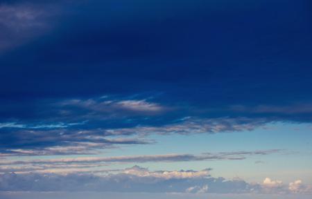 summer landscape beautiful cumulus clouds.
