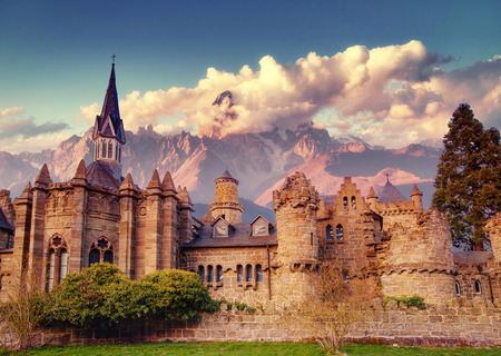 Ancient castle. Fantastic views the beauty of the world. Germany 스톡 콘텐츠