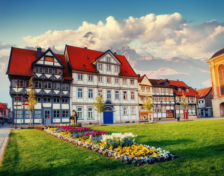 Charming town in Germany. Little Venice. Europe Stock Photo