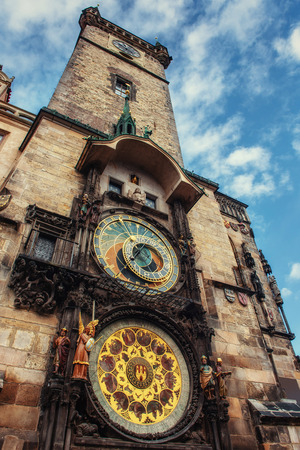 Astronomical clock in Prague, Czech Republic Europe