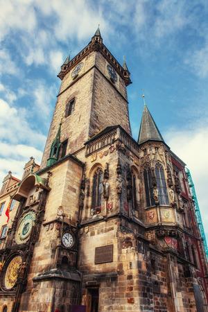 Astronomical clock in Prague, Czech Republic Europe