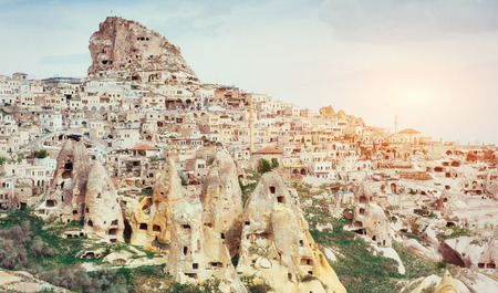 Ancient town and a castle of Uchisar dug from