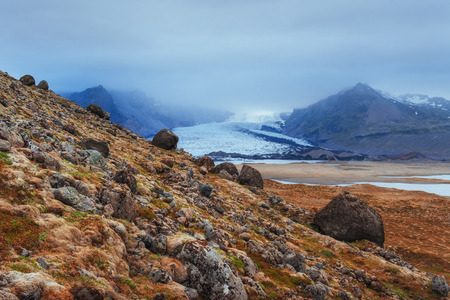 The picturesque landscapes of mountains Iceland. Stock Photo