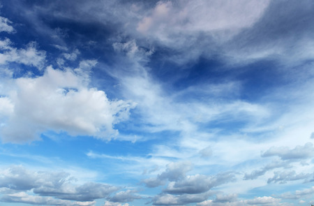 White clouds and blue. Beauty world.